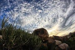 卡纳塔克邦,印度干燥岩石风景  库存图片