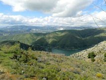 卡纳莱斯水库, GÃ ¼ ejar山脉,内华达山,西班牙 库存照片