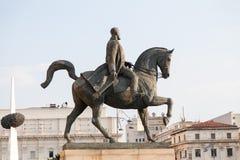 卡罗尔I国王雕象 免版税库存照片