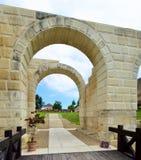 卡罗来纳州城堡的废墟在阿尔巴尤利亚,罗马尼亚 库存图片