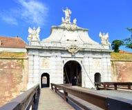 卡罗来纳州白色城堡在阿尔巴尤利亚,罗马尼亚 免版税库存照片