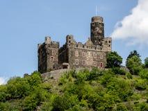 卡茨城堡,莱茵河 免版税库存图片