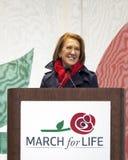 卡莉・费奥丽娜讲话在3月为生活 免版税库存图片
