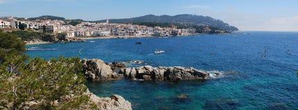 卡莱利亚de Palafruguell美丽的景色  免版税库存图片
