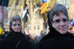 卡莱斯的Puigdemont集会 库存照片