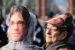 卡莱斯的Puigdemont集会 免版税库存照片