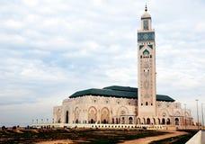 卡萨布兰卡哈桑・摩洛哥清真寺塔 库存照片