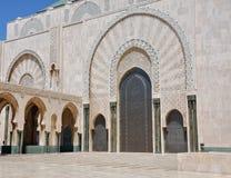 卡萨布兰卡哈桑II国王清真寺 库存照片