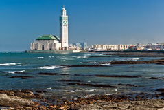 卡萨布兰卡哈桑ii摩洛哥国王清真寺 免版税图库摄影