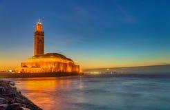 卡萨布兰卡哈桑ii摩洛哥清真寺 免版税库存图片