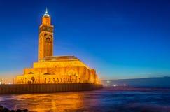 卡萨布兰卡哈桑ii摩洛哥清真寺 库存图片