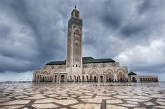 卡萨布兰卡哈桑ii清真寺 库存图片