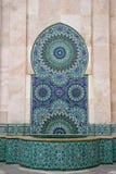 卡萨布兰卡喷泉摩洛哥马赛克 免版税库存照片