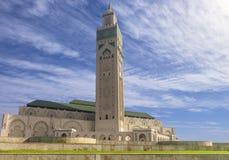 卡萨布兰卡摩洛哥,哈桑二世清真寺 免版税库存照片