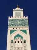 卡萨布兰卡详细资料哈桑ii摩洛哥清真 免版税库存照片