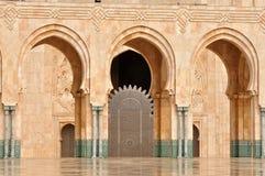 卡萨布兰卡详细资料哈桑ii清真寺 免版税图库摄影
