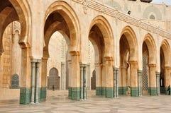 卡萨布兰卡详细资料哈桑ii清真寺 图库摄影