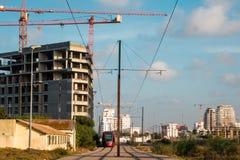 卡萨布兰卡运输和建筑学 图库摄影