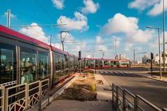 卡萨布兰卡运输和建筑学 免版税库存图片