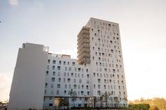 卡萨布兰卡运输和建筑学 免版税图库摄影