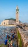 卡萨布兰卡,摩洛哥- 2013年4月, 19日:哈桑二世清真寺 免版税库存图片