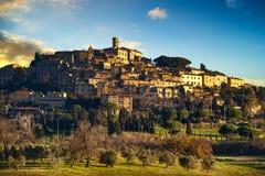 卡萨莱马里蒂莫老石村庄在Maremma 意大利托斯卡纳 库存图片