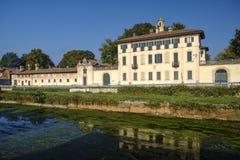 卡西内塔迪卢加尼亚诺米兰,意大利:别墅Visconti Maineri 免版税库存图片