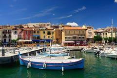 卡西斯,法国海滨 免版税库存照片