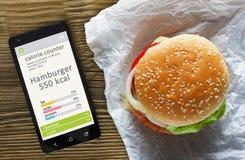 卡路里逆概念 免版税库存照片
