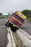 卡车事故 免版税库存图片