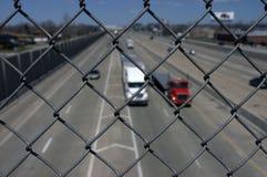从卡车交通的保险柜 库存照片