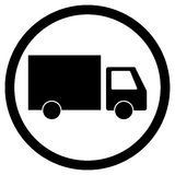 卡车交付象 免版税库存照片