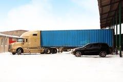 卡车冬天 免版税库存照片