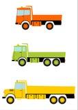 卡车卸车集合。 免版税图库摄影