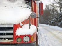 卡车在冬天 库存图片