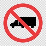 卡车在透明背景不签字 库存例证