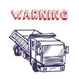 卡车工作 库存照片