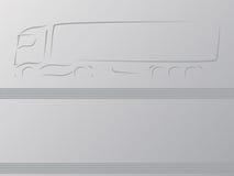 卡车广告墙纸 免版税图库摄影