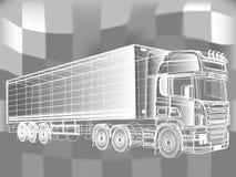 卡车抽象线设计观念 库存照片