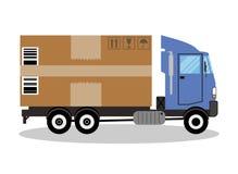 卡车搬运车和礼物盒组装 向量例证