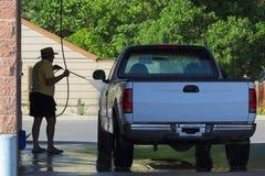 卡车洗涤 免版税图库摄影