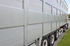 卡车特写镜头的侧向边 库存照片