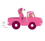卡车的女孩 免版税库存照片