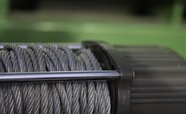 卡车缆绳绞盘 免版税库存照片