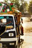 卡车艺术- Khairpur,信德省,巴基斯坦 免版税库存照片