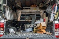 卡车货物空间有工具的 库存照片