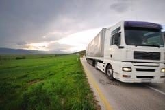 卡车路 免版税库存照片