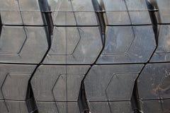 卡车轮子外形结构 免版税库存照片