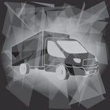 卡车运输商标模板 皇族释放例证