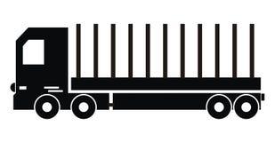 卡车,剪影 免版税图库摄影